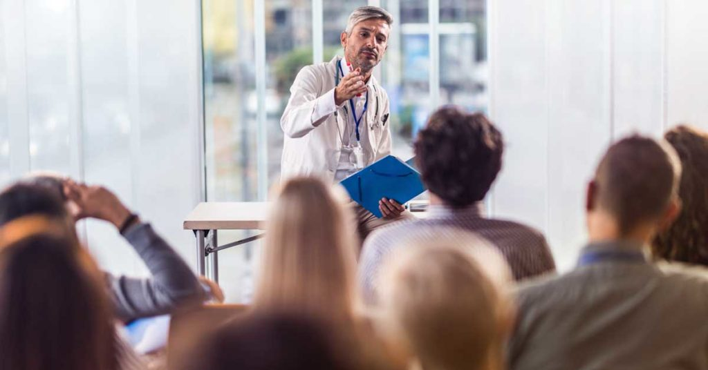 Physician Giving a Lecture
