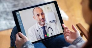 Telehealth visit with doctor