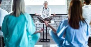 physicians doing yoga