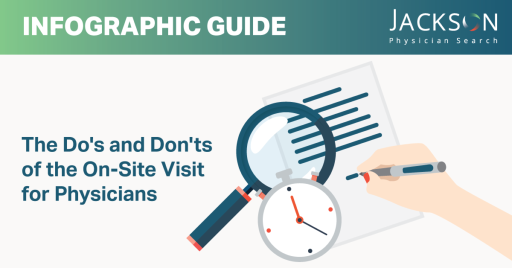 [Infographic Guide] Physician Do's and Don'ts for the On-Site Interview and Community Tour