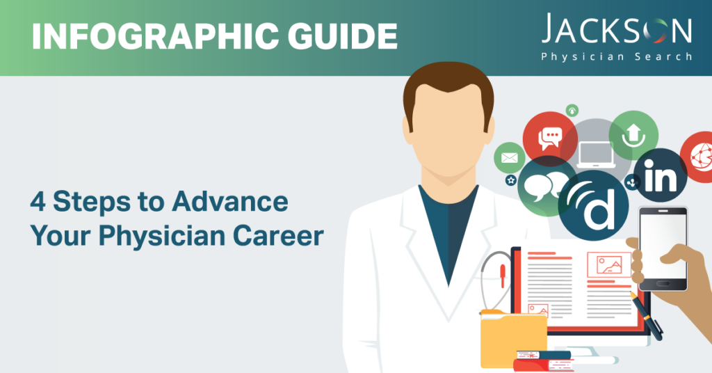 [Infographic Guide] Four Steps to Advance Your Physician Career