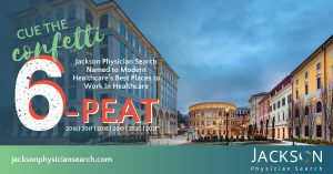 For Sixth Consecutive Year, Jackson Physician Search Named One of the Best Places to Work in Healthcare